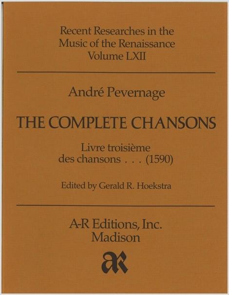 Pevernage: Livre troisième des chansons