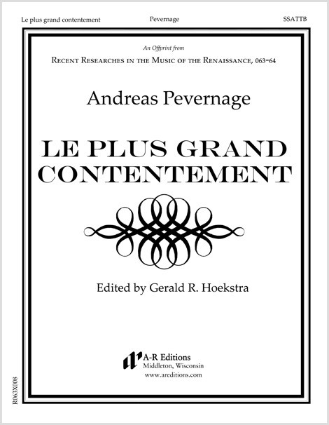 Pevernage: Le plus grand contentement