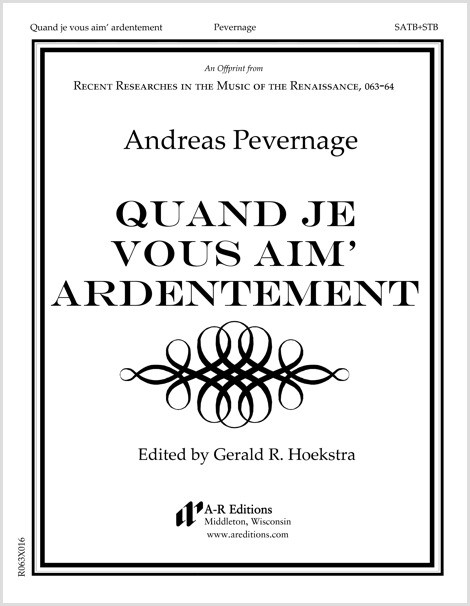 Pevernage: Quand je vous aim' ardentement