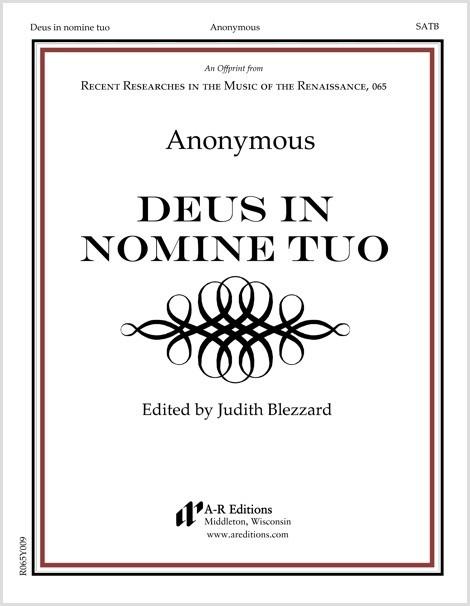 Anonymous: Deus in nomine tuo