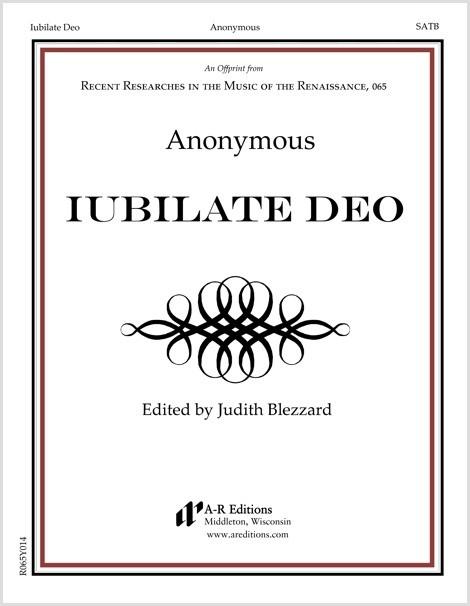 Anonymous: Iubilate Deo