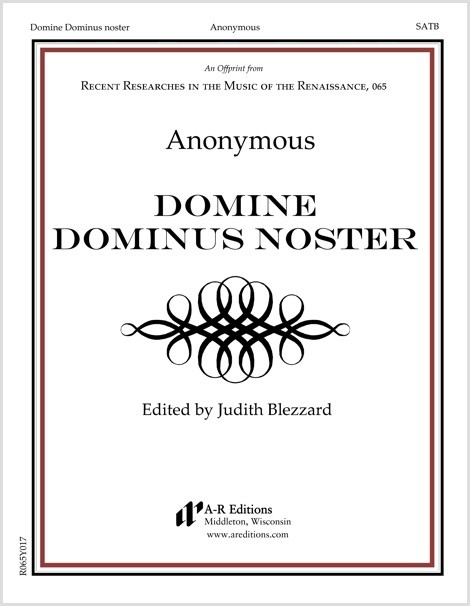 Anonymous: Domine Dominus noster