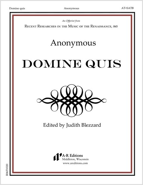 Anonymous: Domine quis