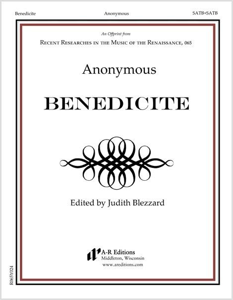 Anonymous: Benedicite