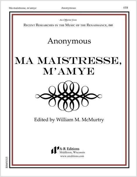 Anonymous: Ma maistresse, m'amye