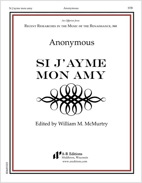 Anonymous: Si j'ayme mon amy