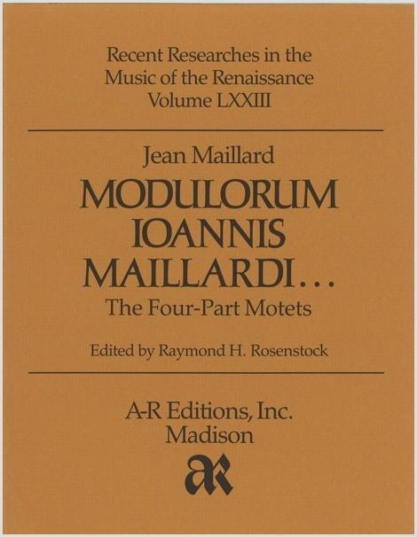 Maillard: Modulorum . . . Four-Part Motets