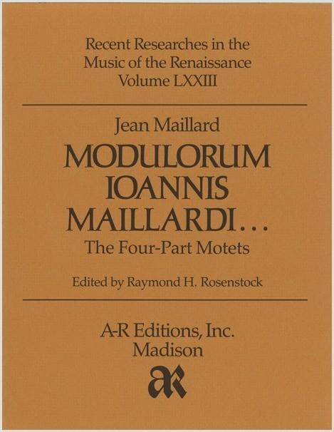 Maillard: Modulorum