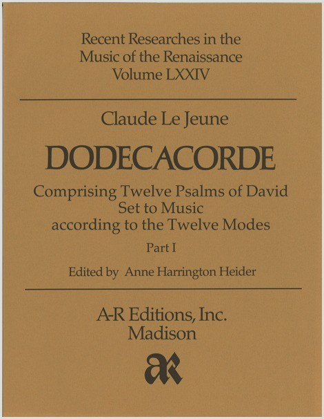 Le Jeune: Dodecacorde, Part 1