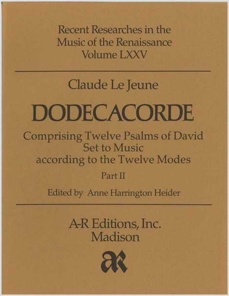 Le Jeune: Dodecacorde, Part 2