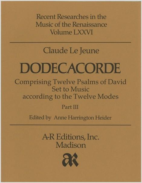 Le Jeune: Dodecacorde, Part 3
