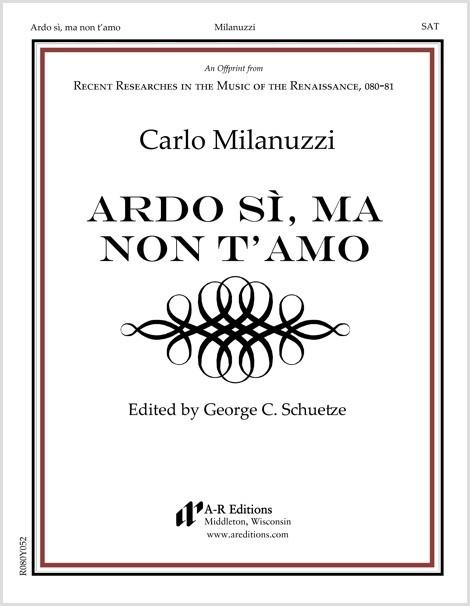 Milanuzzi: Ardo sì, ma non t'amo