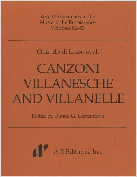 Lasso et al.: Canzoni villanesche and Villanelle