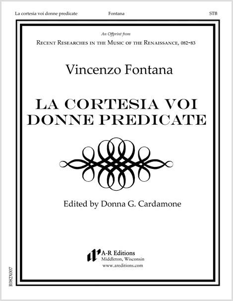 Fontana: La cortesia voi donne predicate