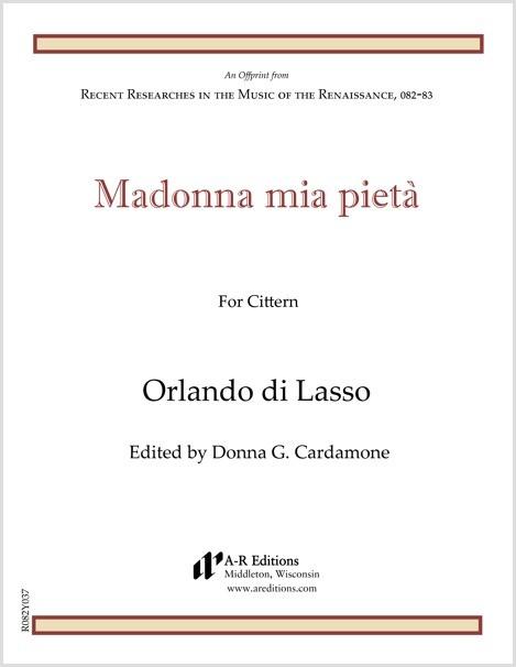 Lasso: Madonna mia pietà