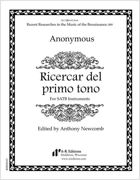 Anonymous: Ricercar del primo tono