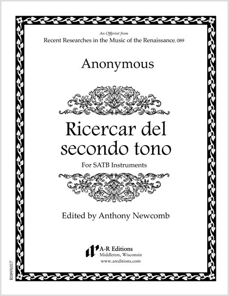 Anonymous: Ricercar del secondo tono