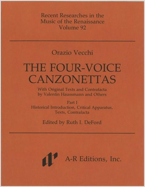 Vecchi: Four-Voice Canzonettas, Part 1