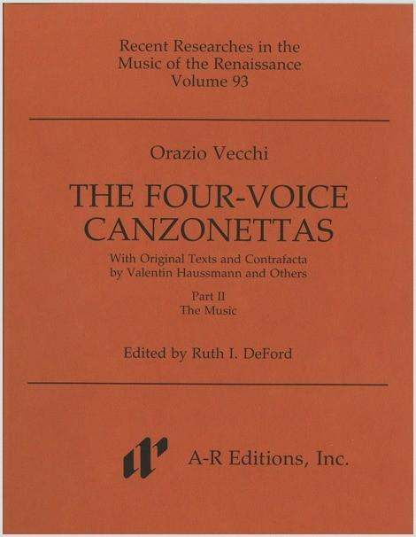 Vecchi: Four-Voice Canzonettas, Part 2