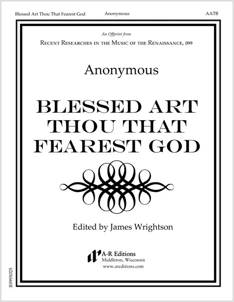 Anonymous: Blessed Art Thou That Fearest God