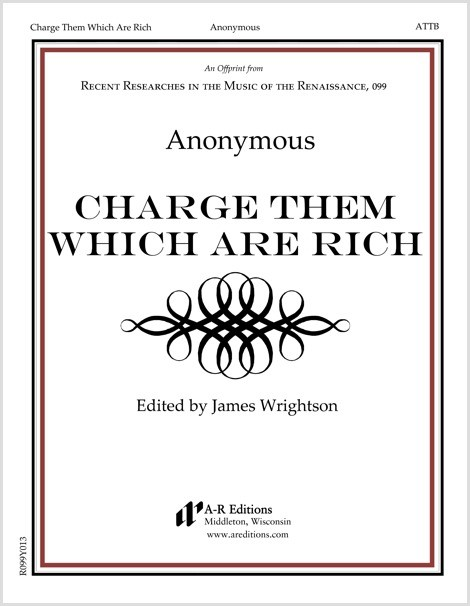 Anonymous: Charge Them Which Are Rich