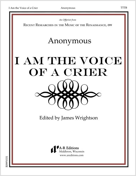 Anonymous: I Am the Voice of a Crier