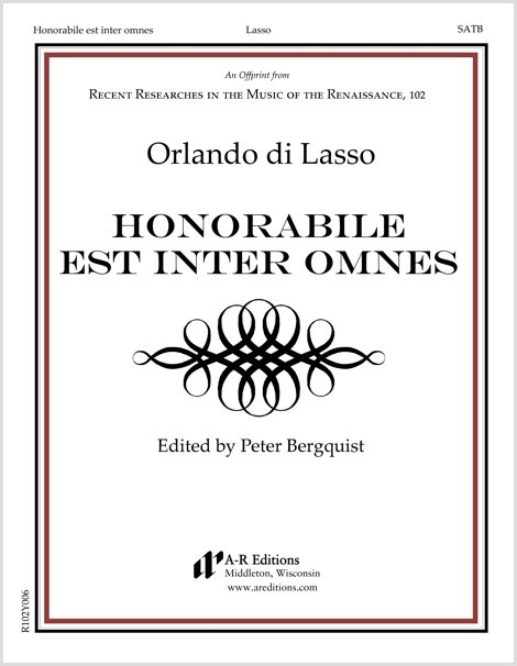Lasso: Honorabile est inter omnes