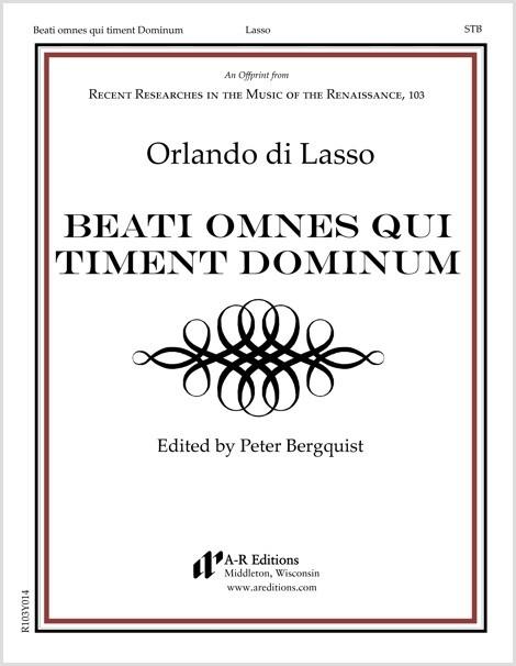 Lasso: Beati omnes qui timent Dominum
