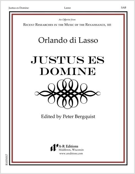 Lasso: Justus es Domine
