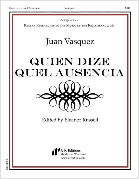 Vasquez: Quien dize quel Ausencia
