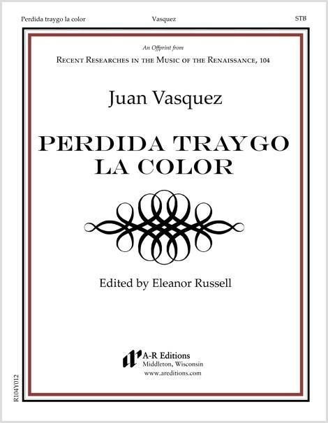 Vasquez: Perdida traygo la color