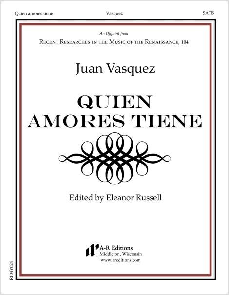 Vasquez: Quien amores tiene