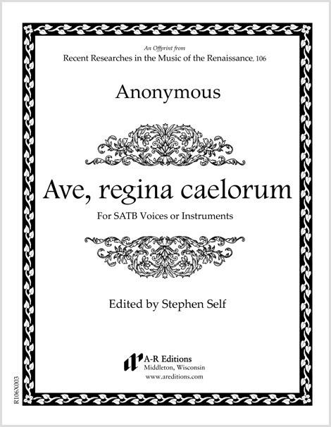 Anonymous: Ave, regina caelorum