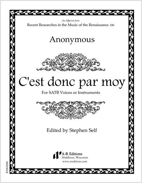 Anonymous: C'est donc par moy