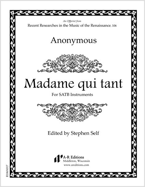Anonymous: Madame qui tant