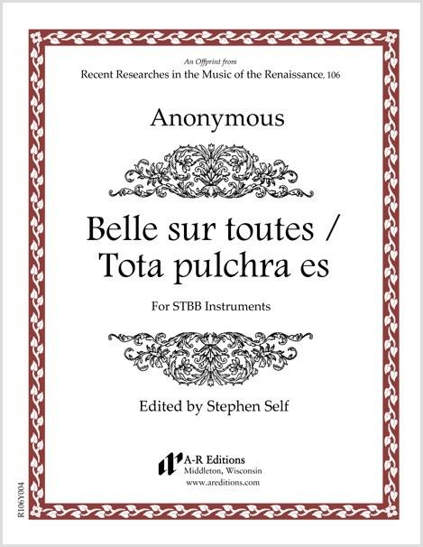 Anonymous: Belle sur toutes / Tota pulchra es