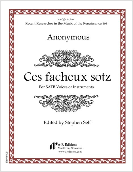 Anonymous: Ces facheux sotz