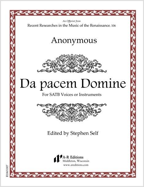 Anonymous: Da pacem Domine