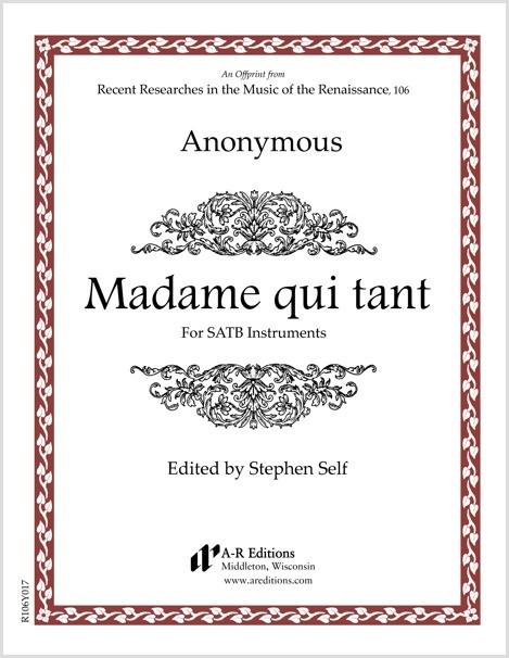 Anonymous: Madame qui tant