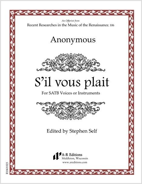 Anonymous: S'il vous plait