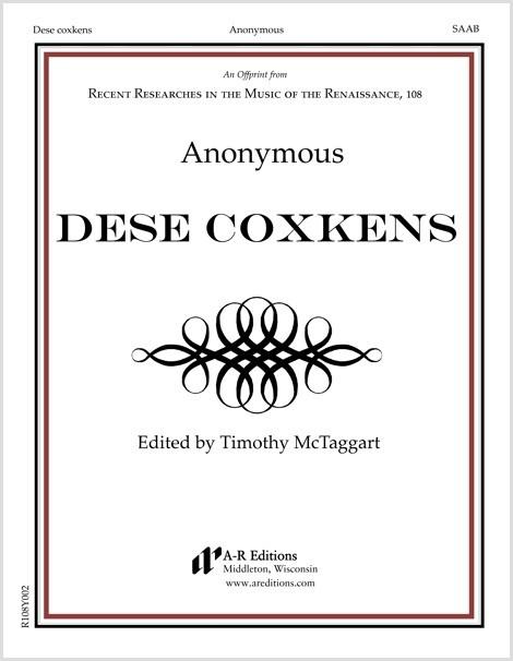 Anonymous: Dese coxkens