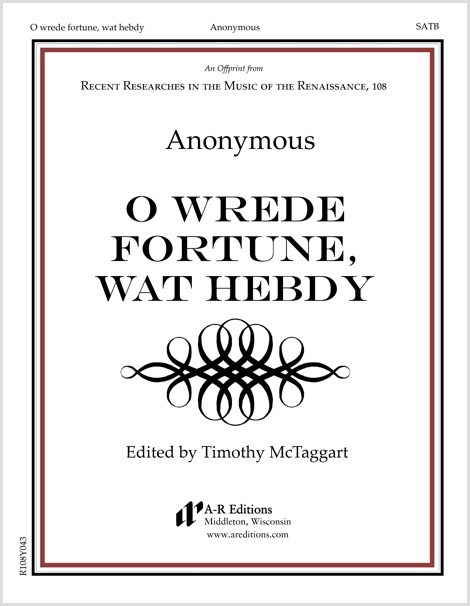 Anonymous: O wrede fortune, wat hebdy