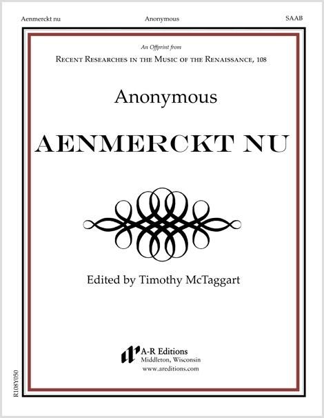 Anonymous: Aenmerckt nu