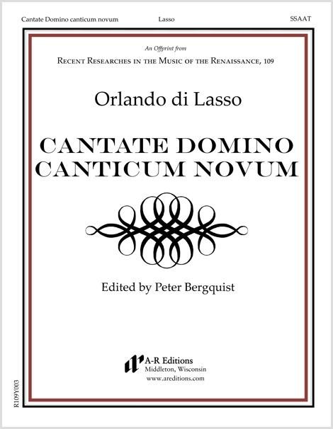Lasso: Cantate Domino canticum novum