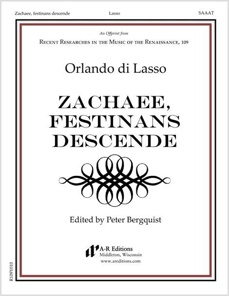 Lasso: Zachaee, festinans descende