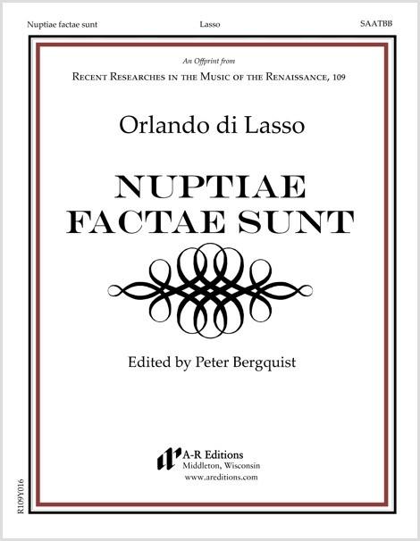 Lasso: Nuptiae factae sunt