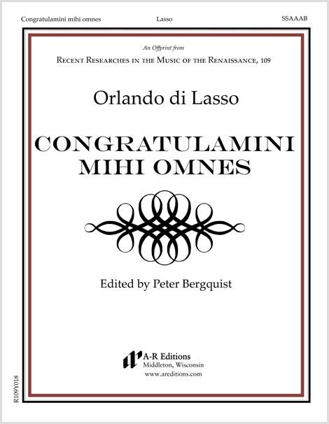 Lasso: Congratulamini mihi omnes