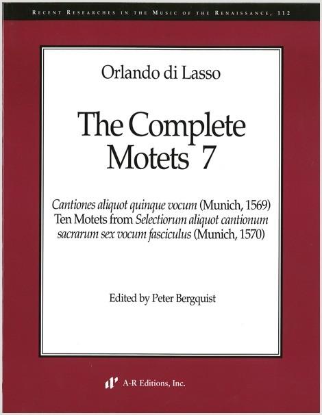 Lasso: Complete Motets 7