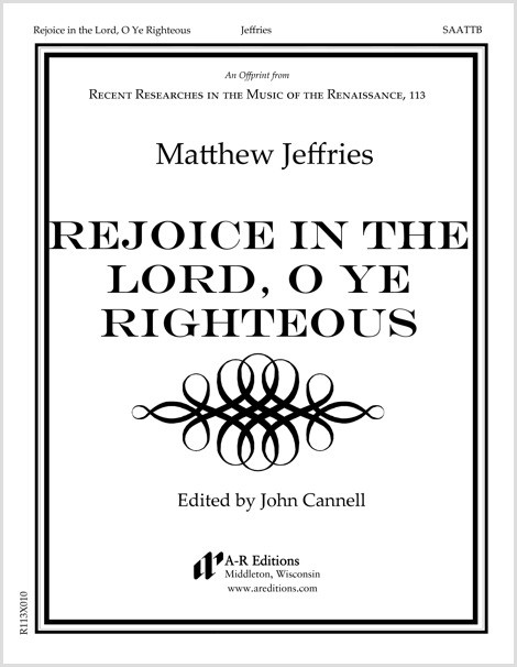 Jeffries: Rejoice in the Lord, O Ye Righteous