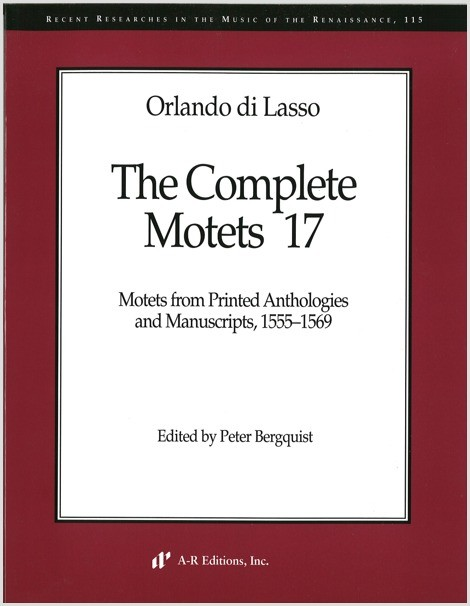 Lasso: Complete Motets 17